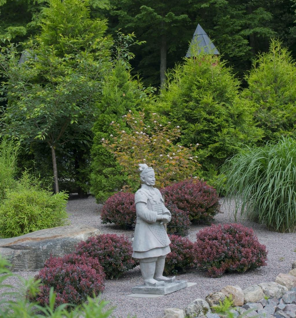 Samuraj i Hillesgårdens park